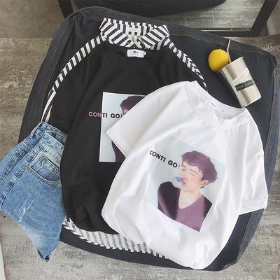 2018夏季新款男士短袖T恤韩版潮流情侣上衣学生夏装T31-P25