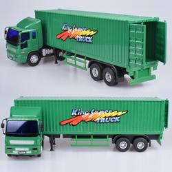 力利工程车大号货柜车卡车运输车厢式货车邮政车儿童玩具汽车模型