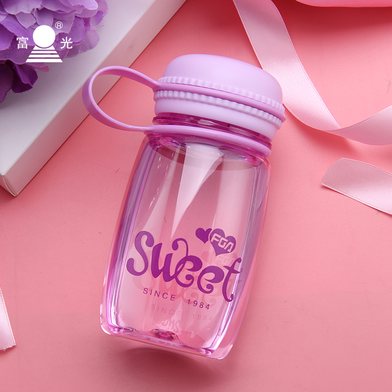 Fuguang space Cup childrens handy cup small water cup female student warm hand portable mini lovely water cup plastic cup
