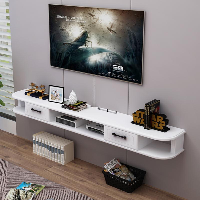 电视柜壁挂欧式悬挂现代简约简易客厅烤漆挂墙小户型迷你墙柜