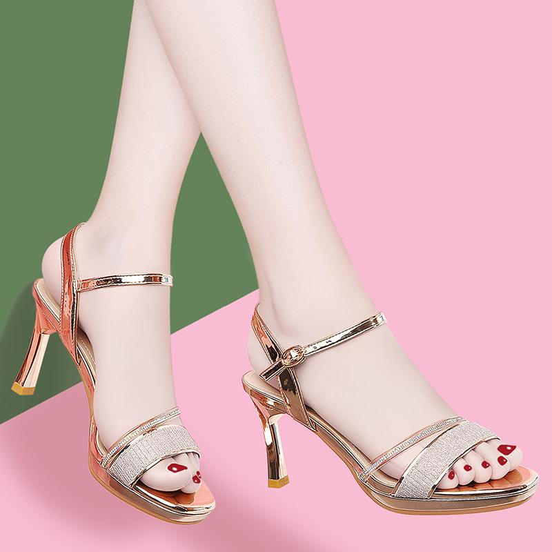 凉鞋女仙女风2020年新款时装百搭防水台鱼嘴高跟鞋女细跟夏季女鞋