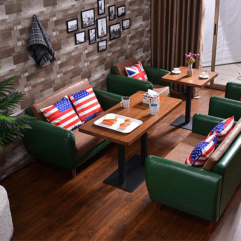 Американский ретро западный магазин кофе зал палуба диван сделанный на заказ ясно бар бар подключать подожди дерево высококачественный столы и стулья сочетание