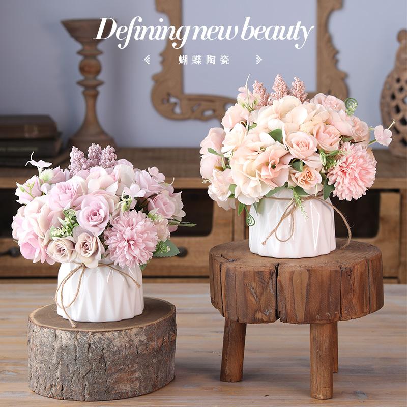 北欧仿真假兰花束装饰摆件客厅家居餐桌花艺摆设塑料干花餐桌盆栽