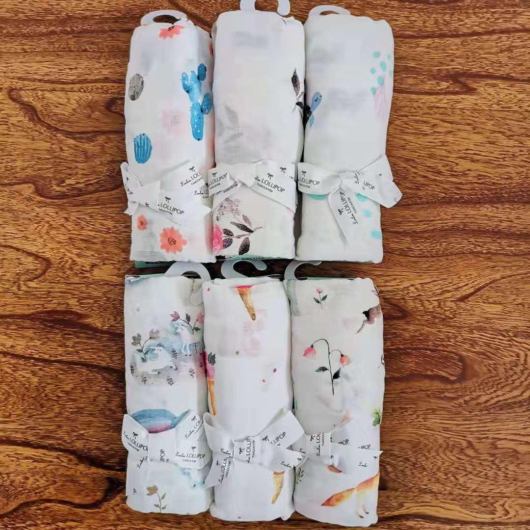 加拿大LL品牌柔软竹纤维婴儿新生儿包巾包被掌柜推荐