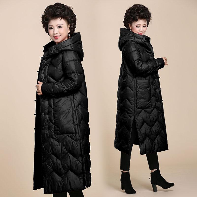 妈妈冬装外套女冬季棉衣中长款2018新款40岁50中年人长款羽绒棉服