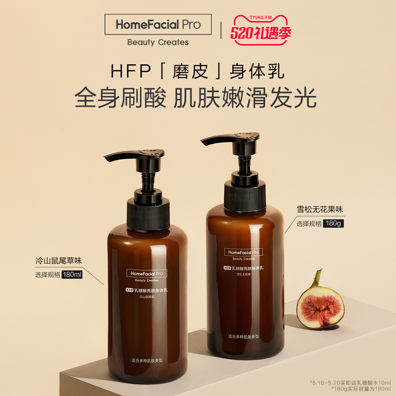 HFP乳糖酸身体乳 夏季补水润肤保湿滋润刷酸果酸香体持久留香男女