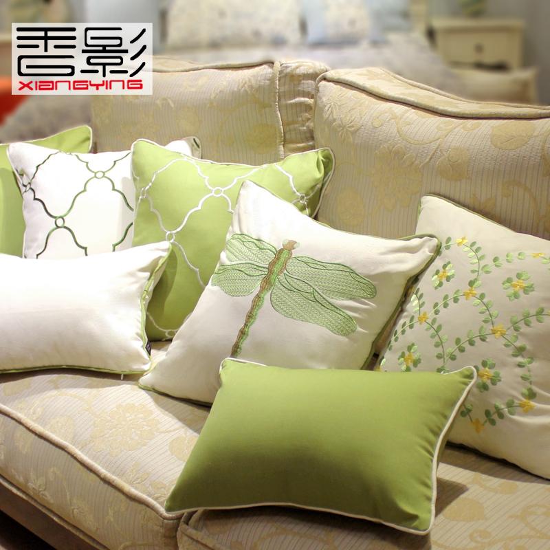 美式田园风格沙发靠垫套不含芯抱枕
