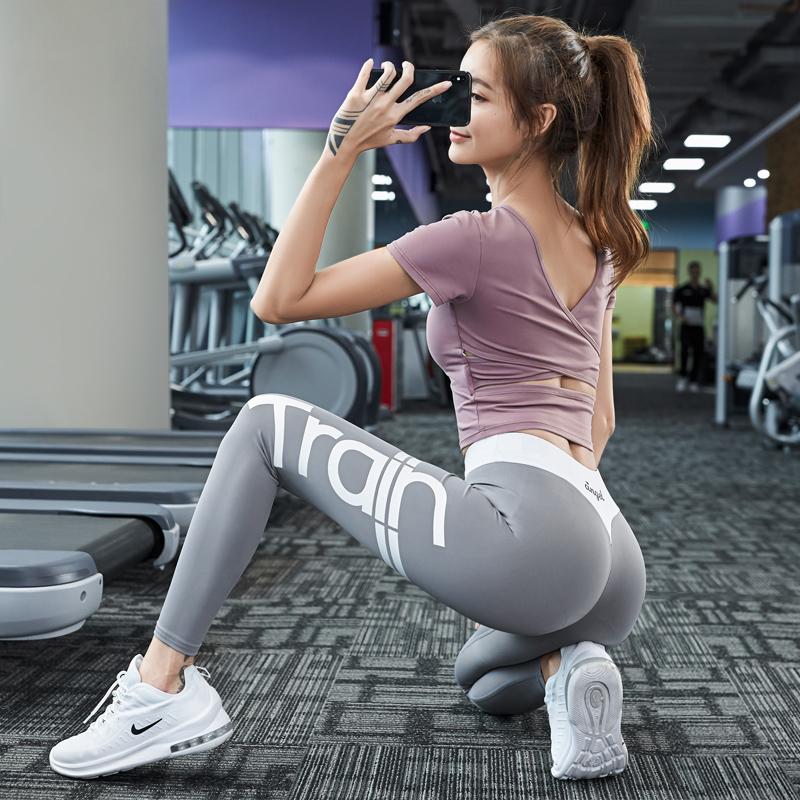 瑜伽服女夏季新款时尚性感显瘦专业网红透气速干健身高端运动套装