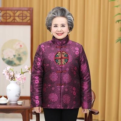 老人棉衣套装女喜庆装奶奶装新年装生日过寿唐装老太太衣服