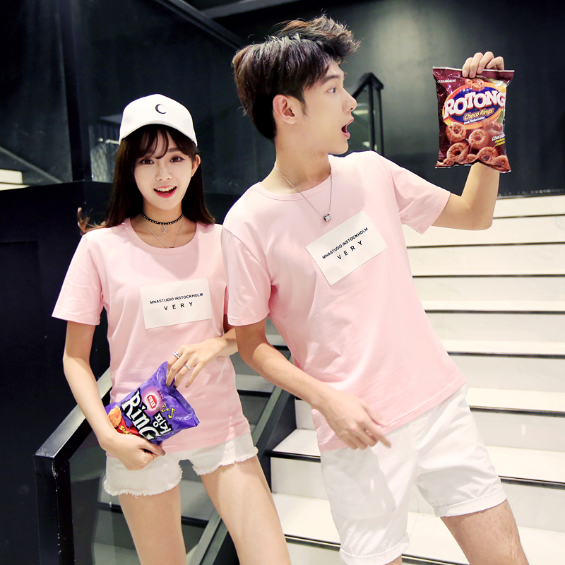 Корейский вентилятор пару костюм лето 2018 новый волна дикий корейский студент любовь темперамент летний костюм qlz верхняя одежда с короткими рукавами