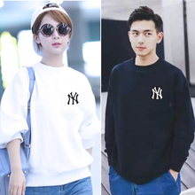 Tide NY couple long-sleeved round-necked guard MLB Yankees Korean version of loose spring and autumn thin jackets ins Tide