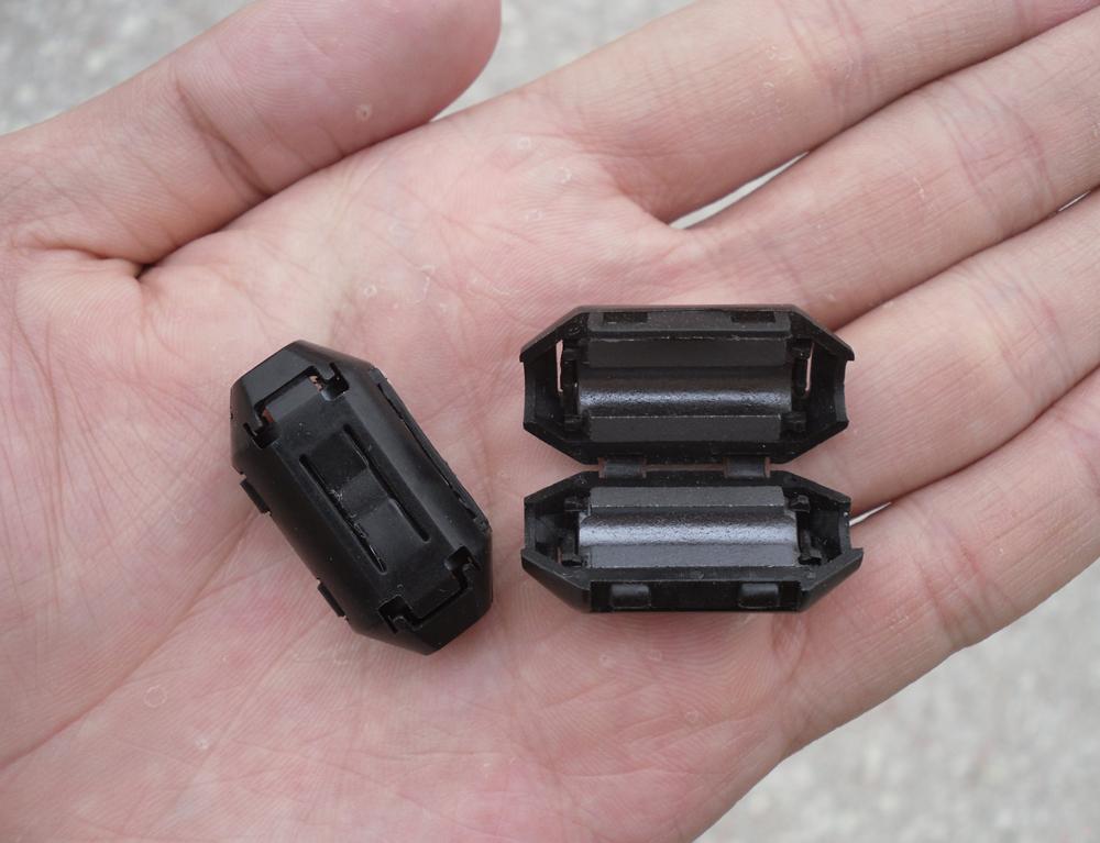 全新 原装 出口 滤波黑色消磁环/内径5MM/可拆卸/预防电磁干扰
