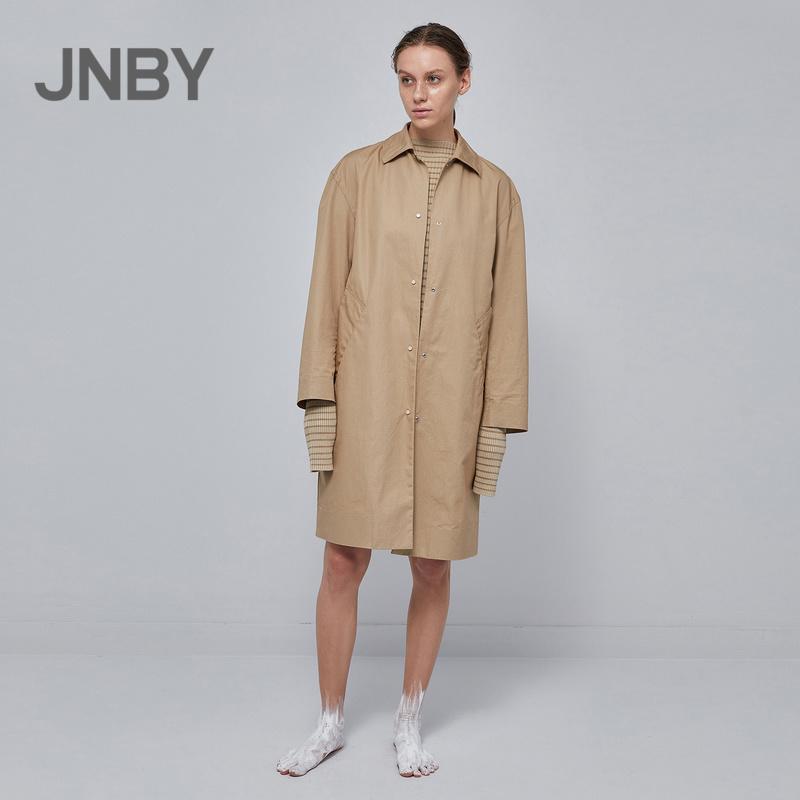 JNBY/江南布衣2019早春新品复古气质中长款风衣外套女5I1221480