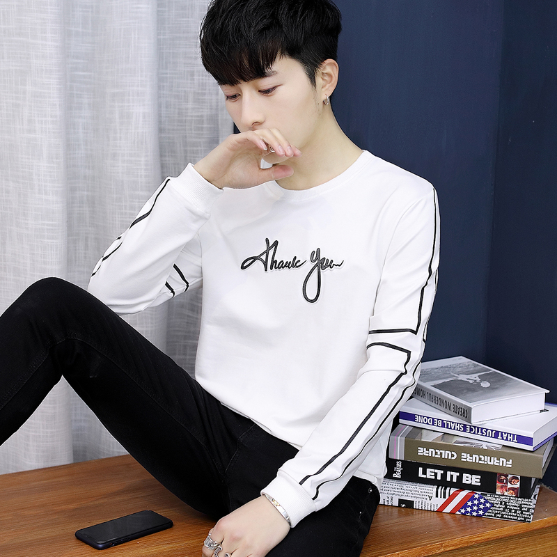 Youth autumn clothing 13 big children 14 boys 15 junior high school students 16 years old men's cotton long-sleeved t-shirt wearing autumn clothes