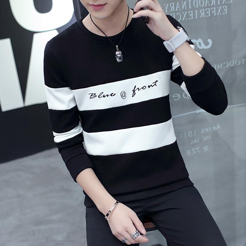 (用67元券)秋季长袖T恤男士秋衣外穿单件上衣男装小衫2019新款薄款韩版潮流