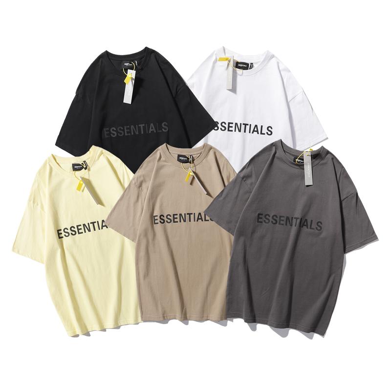 恤T夏季男女短袖FOG立体胶标基础ESSENTIALS欧美潮牌GODOFFEAR