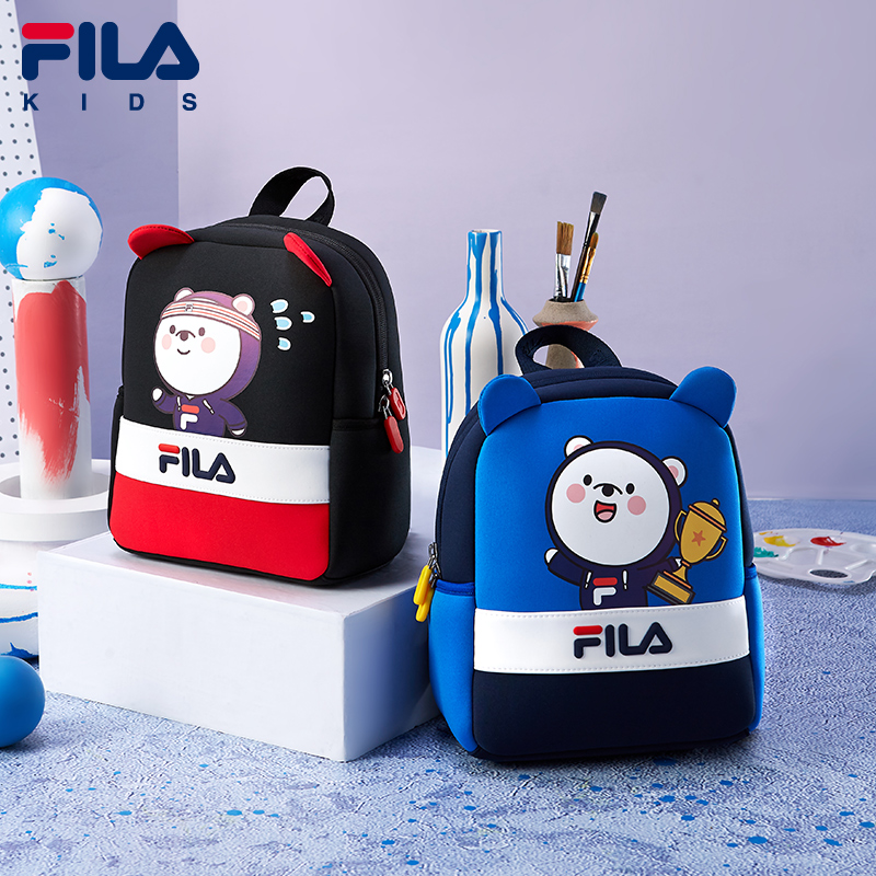 FILA children's clothing boys and girls backpack 2020 new children's sports and leisure cute kindergarten school bag