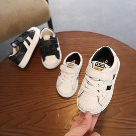 男宝宝小白鞋真皮贝壳头婴儿学步运动板鞋女小童单鞋软底1-3-5岁图片