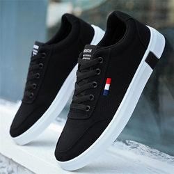 2020新款秋季韩版潮流百搭帆布鞋男鞋子休闲布鞋冬季加绒板鞋潮鞋