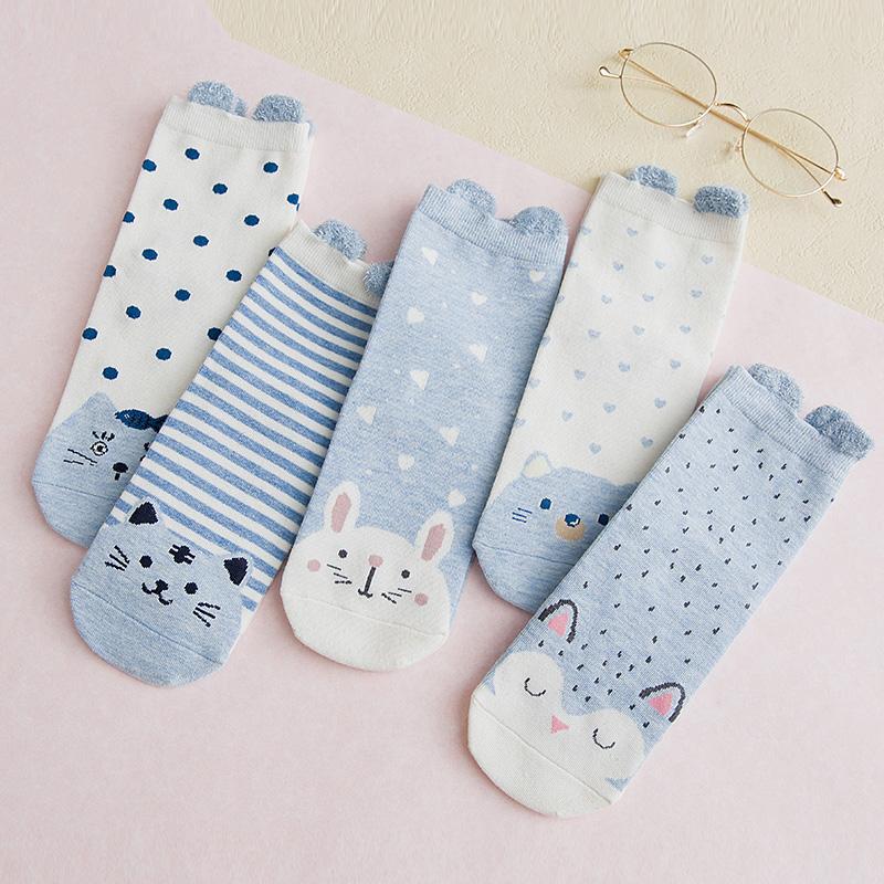 袜子女中筒袜女棉袜长筒可爱日系ins潮夏季薄款秋冬季韩版学院风