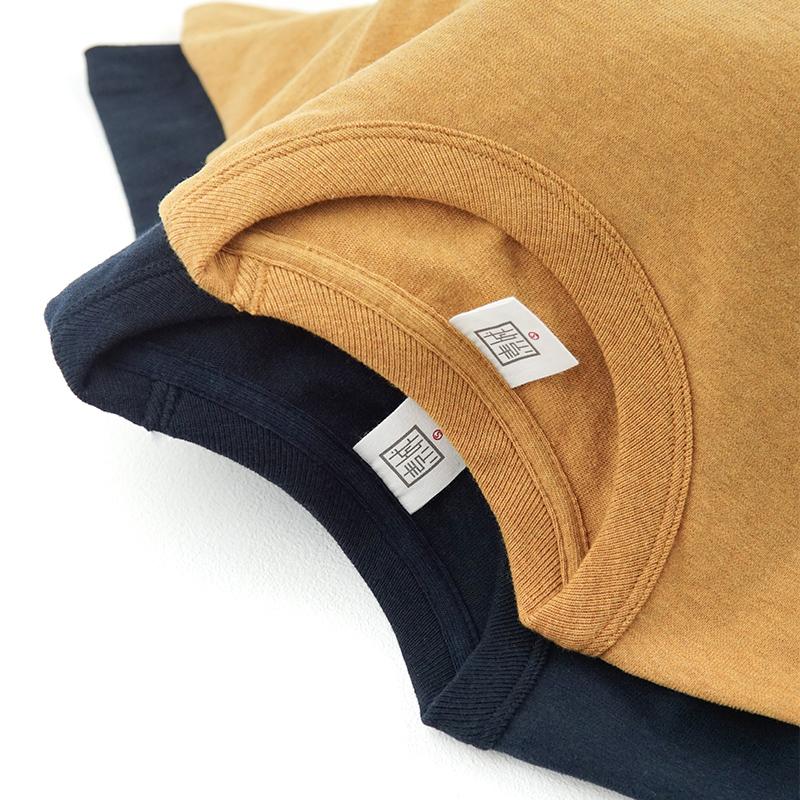 满88元可用5元优惠券重磅T恤男300g碳素磨毛咔叽鹅黄纯棉圆领纯色短袖柔软厚实女通款