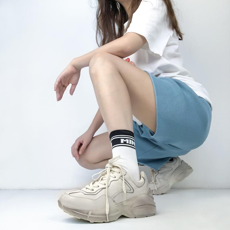 情侣款增高厚底智熏老爹鞋女网红真皮复古做旧显脚小运动鞋脏脏鞋