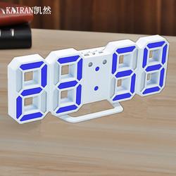 LED闹钟静音床头创意时钟简约时尚挂钟座钟多功能电子钟闹铃夜光