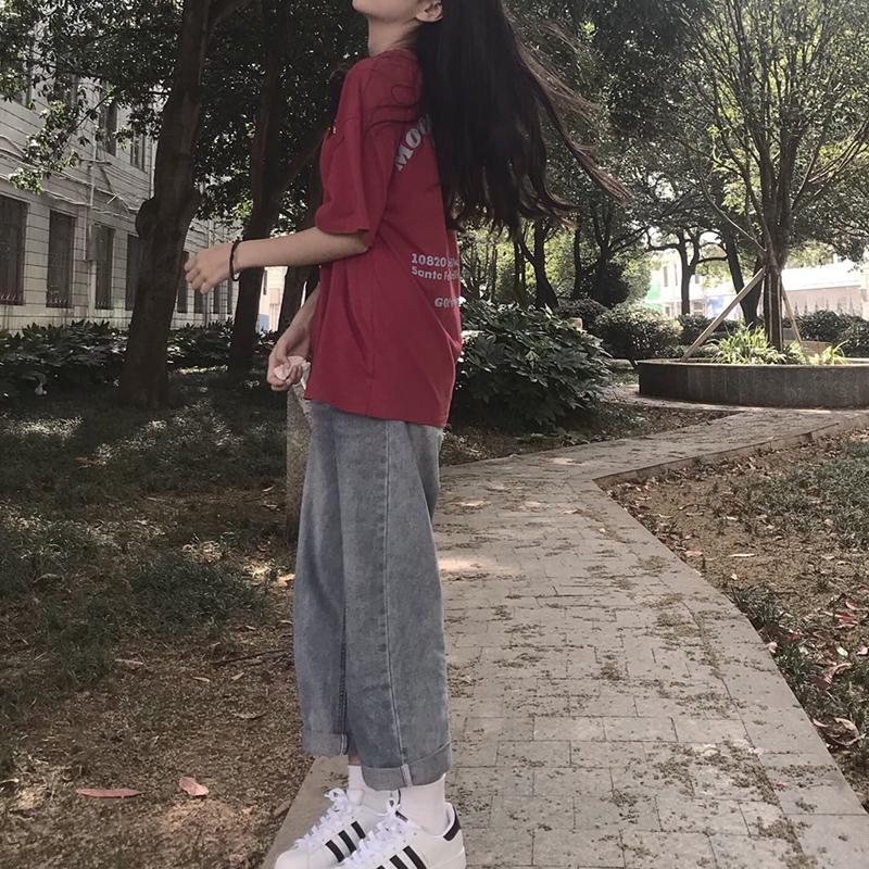 直筒宽松2021春秋新款高腰牛仔裤质量靠谱吗