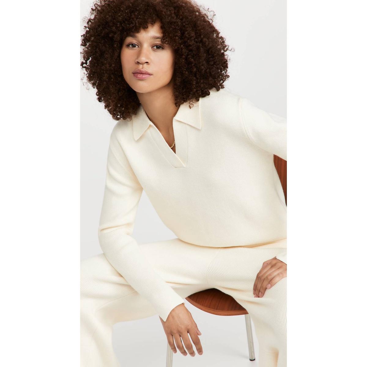 代购English Factory 马球衫衣领针织毛衣女2021新款奢侈品