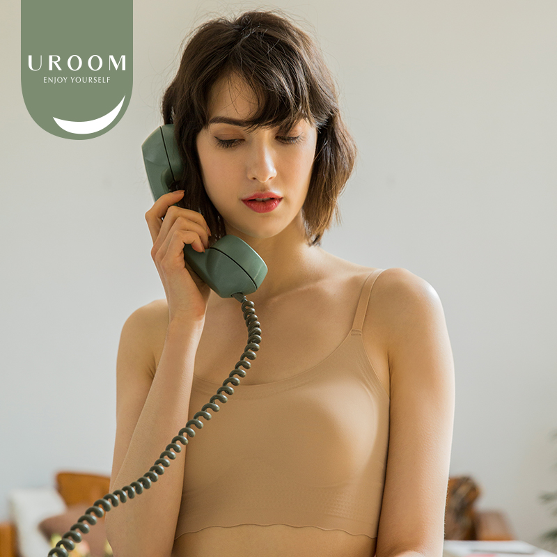 Uroom / sling without steel ring bra, comfortable and traceless underwear, womens adjustable shoulder belt back bra, the same style in Japan