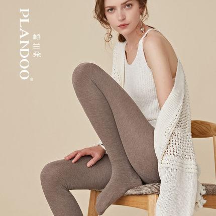 帕兰朵秋冬新款打底裤加绒加厚显瘦保暖黑色棉裤踩脚连裤袜女外穿