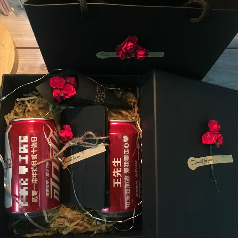 可乐定制易拉罐抖音同款热门可口可乐七夕情人节男女生生日礼物