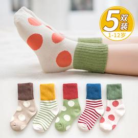 儿童袜子棉春秋季男童短袜学生地板袜小孩中筒秋冬婴童宝宝棉袜图片