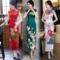 长款改良新式旗袍年轻款少女2019新复古中国风走秀连衣裙气质优雅