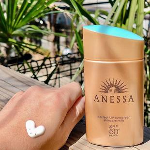 日本ANESSA安耐曬防曬霜小金瓶防水防汗面部身體用spf50 60ml