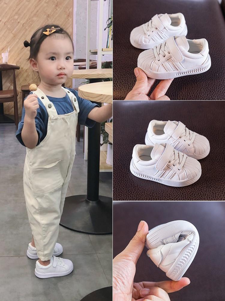 宝宝鞋子秋季小白鞋0一1岁小童男宝春秋新款女婴儿软底板鞋学步鞋