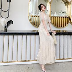 高端宴会气质礼服裙高级质感2020新款修身鱼尾裙亮片晚礼服女名媛