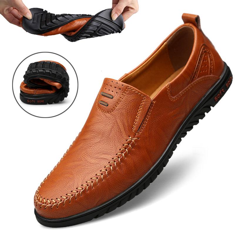 冬季男士休闲皮鞋男加绒保暖男鞋韩版真皮豆豆鞋男棉鞋时尚鞋子潮