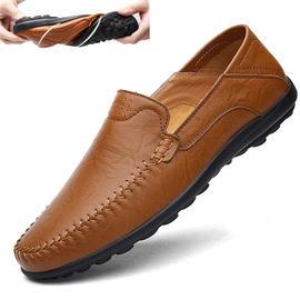 冬季皮鞋男加绒男士豆豆鞋真皮保暖棉鞋男时尚一脚蹬懒人休闲鞋潮