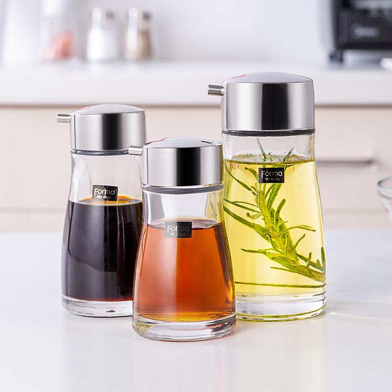 日本ASVEL玻璃油壶酱油壶套装 厨房家用防漏小油瓶组合装北欧油壶