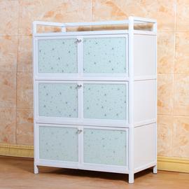 厨房柜子铝合金简易储物收纳柜碗柜阳台柜微波炉柜餐边柜组装橱柜图片