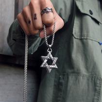 六芒星吊坠欧美时尚学生情侣项坠个姓钛钢男女士项链挂饰不掉色