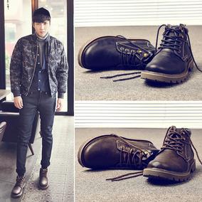 马丁靴潮英伦风加绒冬季中帮雪地靴