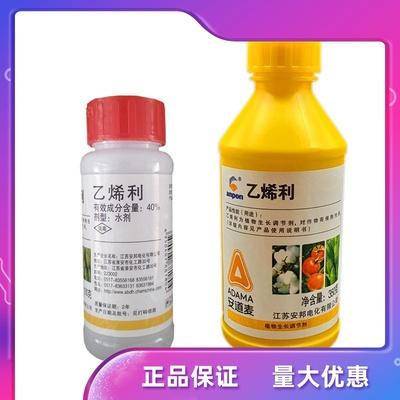 江苏安邦40%乙烯利香蕉催熟棉花橡胶增产核桃脱皮生长调节剂100g