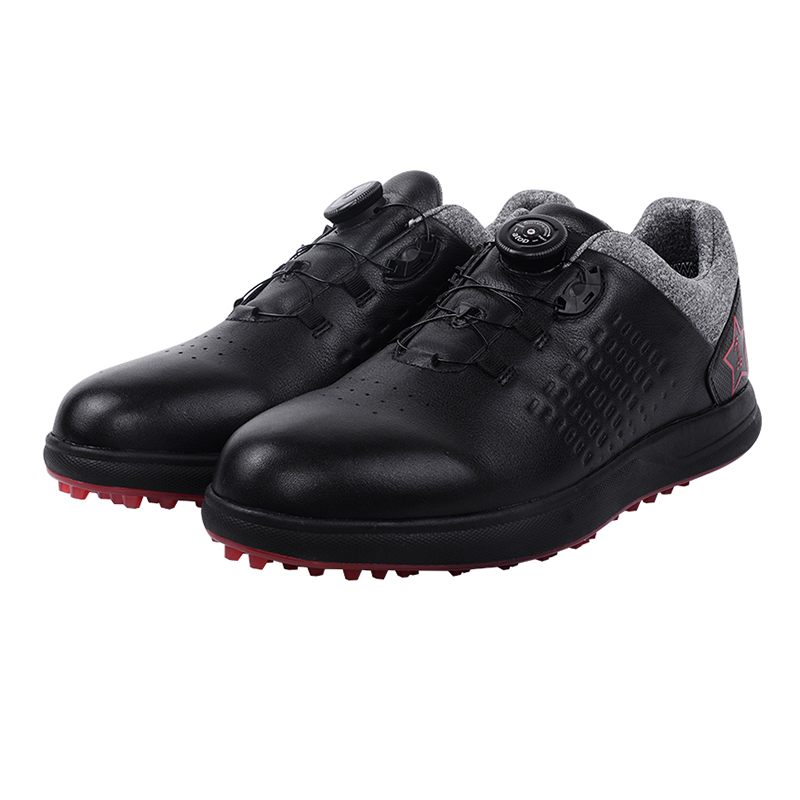 Number new golf mens shoes waterproof shoes button design fixed nail Golf soled leather shoes
