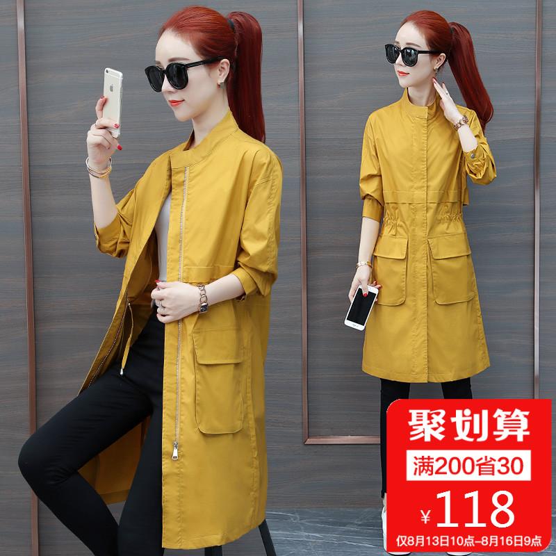 2018春秋季新款韩版风衣女装中长款修身显瘦收腰港风chic长袖外套