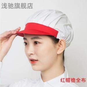 家用厨房做饭炒菜油烟掉头发女帽子
