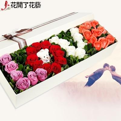99朵玫瑰长春市南关绿园朝阳经开区同城鲜花店速递实体店送花上门
