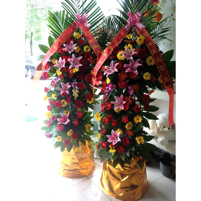上海重庆天津杭州开业鲜花同城配送铁力庆典商务开张乔迁花篮鲜花