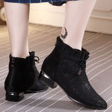2009 fashion leather large size women's shoes 41-43 spring short boots hollow mesh boots with flat sole new 44 boots